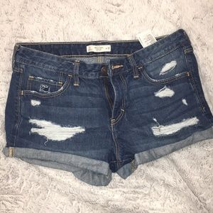 Abercrombie distressed jean shorts